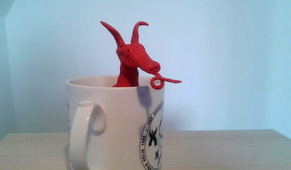 dragon safely in mug of tea